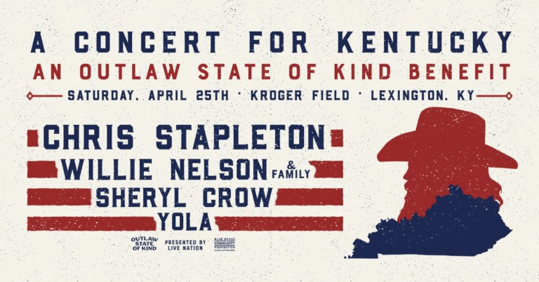 "Chris Stapleton Announces ""A Concert For Kentucky"" An Outlaw State of Kind Benefit"