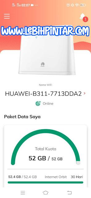 cara merubah nama wifi telkomsel orbit di myorbit