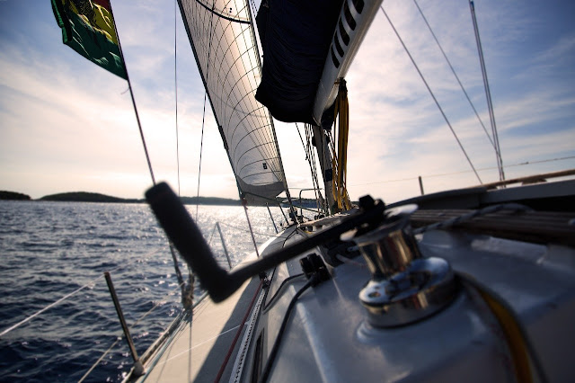Sailing on a Port tack