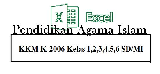 Gratis File Aplikasi KKM PAI K-2006 Kelas 1,2,3,4,5,6 SD Terbaru
