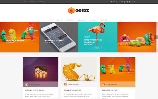 Gridz Free Blogger Template