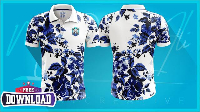 Cricket Collar Shirt Mockup - Yellow Image Mockup PSD File Free Download by M Qasim Ali