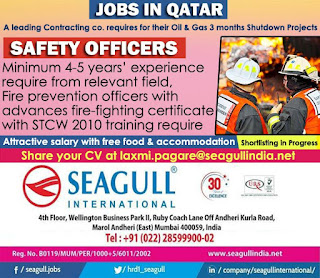 Safety Officers for Shutdown Project in Qatar
