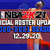 NBA 2K21 OFFICIAL ROSTER UPDATE 12.29.20 OFFICIAL SEASON START + LATEST TRANSACTIONS + ADDED ROOKIES