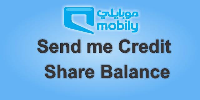 Send and share Mobily Credit Balance