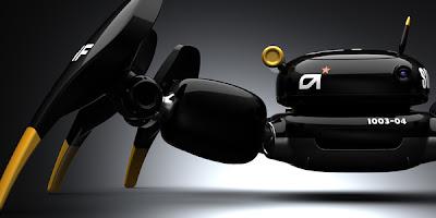 Concepto de robot espía.