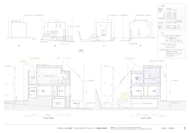 プライバシーを確保しながらつくる穏やかな時を持つ家 立面計画・断面計画