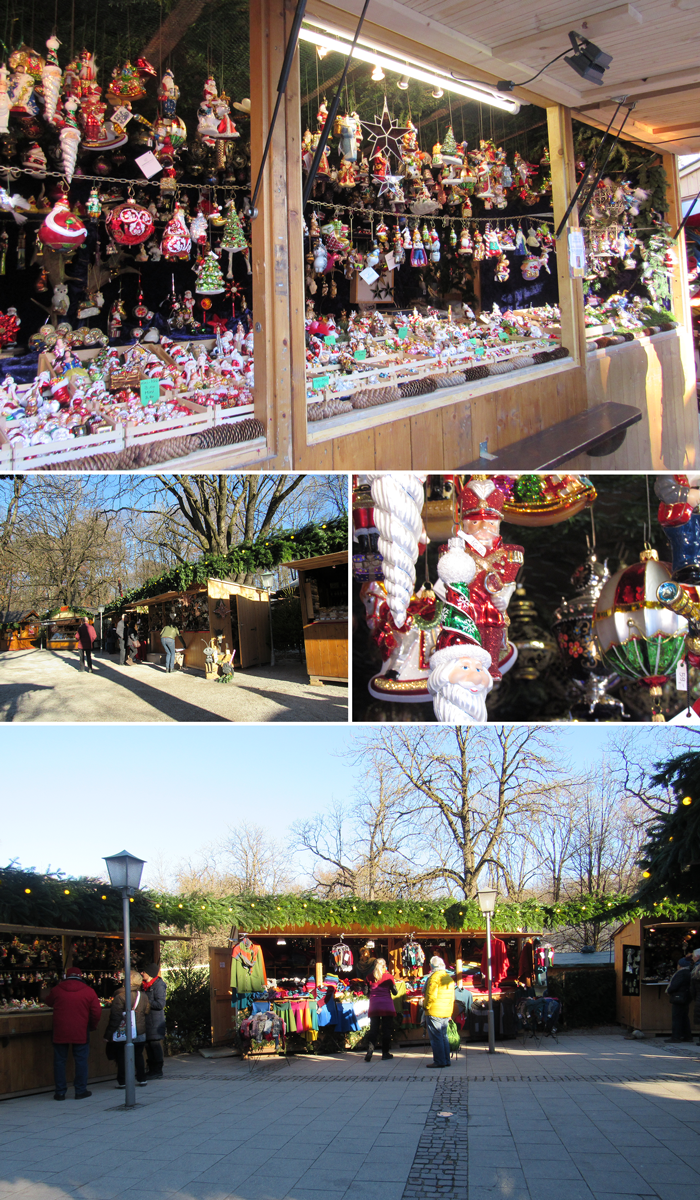 Mercado de Navidad, Munich, Bavaria, Alemania, Jardín Inglés