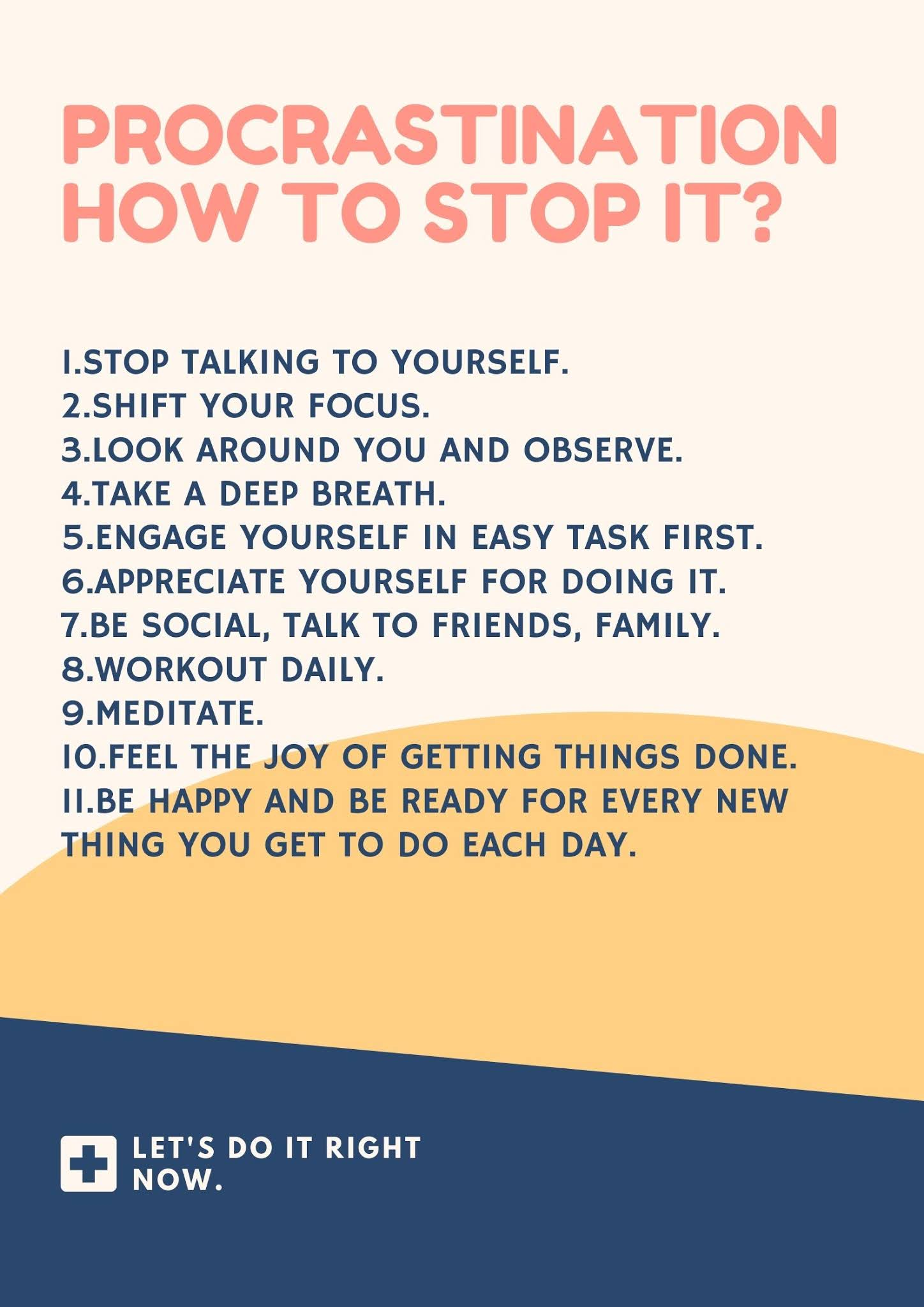 steps to stop procrastinating and be productive