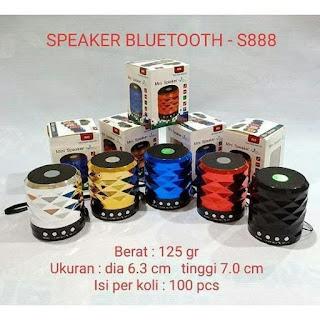 Speaker Bluetooth S888  Speaker S-888 Musik Box Mini Portable