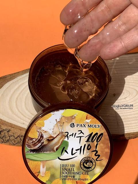 Pax Moly Jeju Snail Soothing Salyangoz Jel incelemesi 2