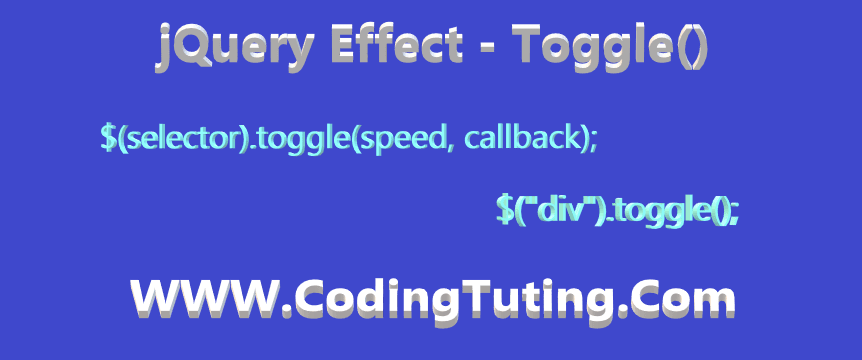 jQuery toggle class jquery, toggle() effect