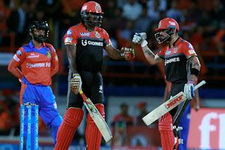 Chris Gayle 77 - GL vs RCB 20th Match IPL 2017 Highlights