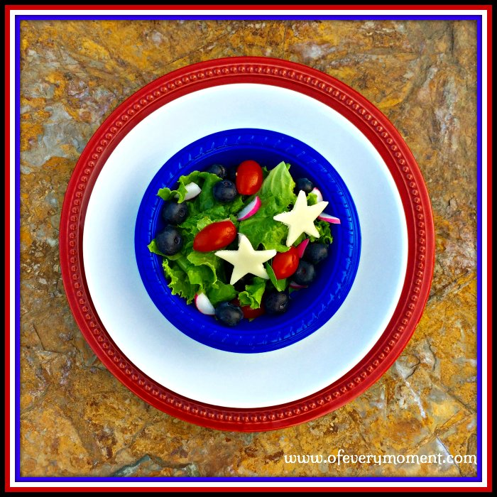 July 4th meal, recipe, red white and blue, salad