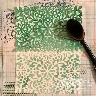 Blending brushes, ink and die cut for a custom background | Nature's INKspirations by Angie McKenzie