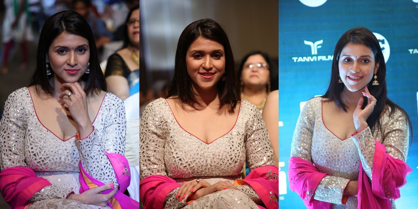 Mannara Chopra Stills at Rogue Movie Audio Launch