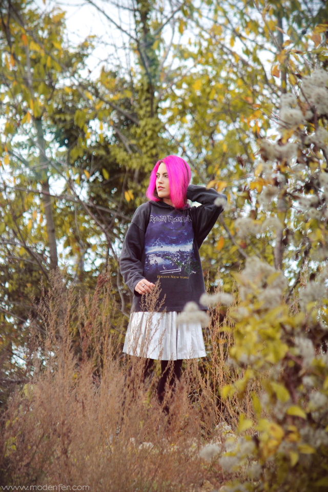 modenfer, blog, moda, mode, fashion, fashion blogger, fashion blog, alternative fashion, moda alternatywna, włosy, różowe włosy, pink hair, pastel hair, metal, metal girl, iron maiden, leather, leather skirt, zakupy, lumpeks, zakupy lumpeksowe, bluza, spódnica, second-hand, second-hand shopping, friperie, thrift, thrifted clothes, silver skirt, silver leather, paris, france, french, parisian, francuski blog, paryski blog, blog paryż, paryż, francja, buty, underground, underground creepers, outfit, look, lookbook, tenue, tendances, artist, artist blog,
