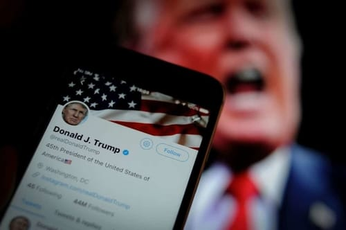 Twitter places warning flags on Trump's tweets when voting by mail