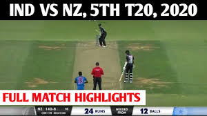 Ind vs NZ 5th T20 2020 highlights, India clean sweep New Zealand