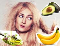 trattamento naturale per capelli secchi: maschera fai da te con avocado, olio e banana
