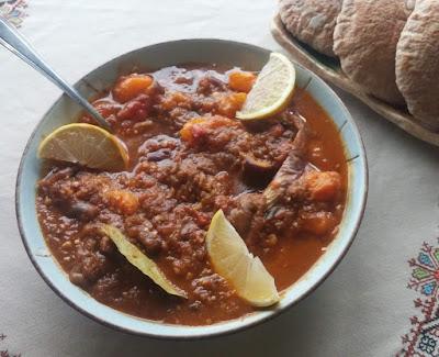 Zaalouk; a Moroccan Eggplant Salad