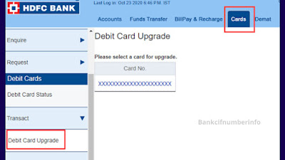 Generate HDFC Debit Card PIN using Internet Banking