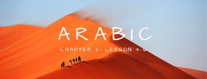 Arabic Chapter 2: Lesson 4-6