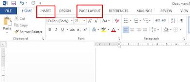 cara membuat halaman di word - menu
