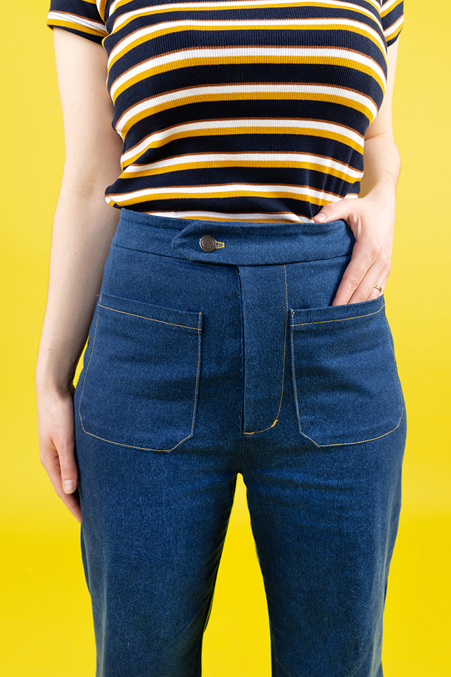 Nikki's Jessa Jeans Trousers - Tilly and the Buttons