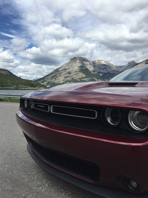 wine red 2016 Dodge Challenger Front Grill