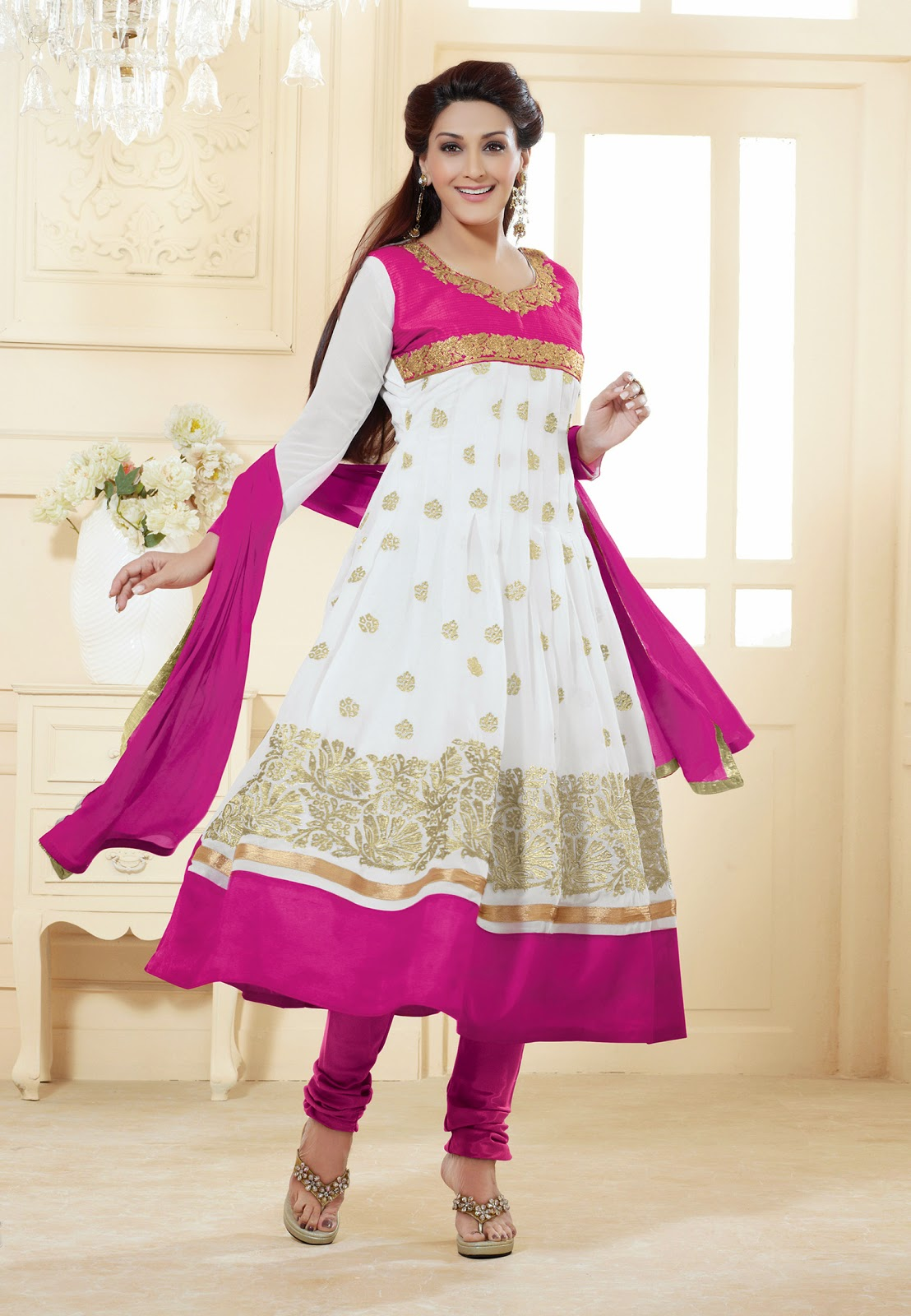 8490583fdf Fabdeal Amazon UK : Sonali Bendre Designer Anarkali Suits for ...