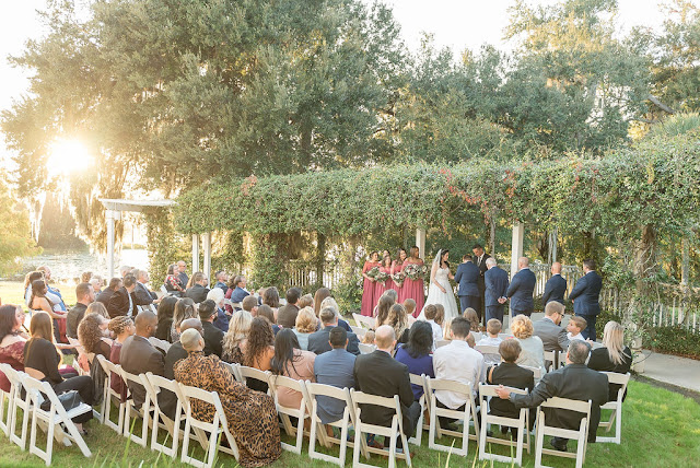 garden trellis wedding ceremony