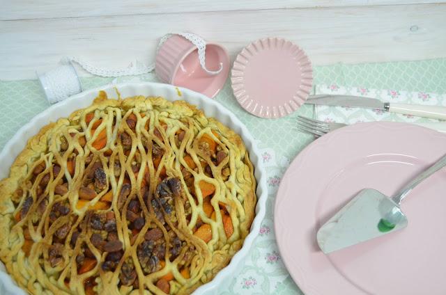 tarta de caqui, tarta de caqui y frutos secos,   tarta de caquis receta, tarta de caqui persimon, tarta facil de caqui,   tarta de hojaldre con caquis,  tarta de caquis, las delicias de mayte,