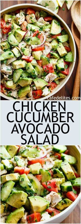 chicken cucumber Avocado salad (no cook) #recipes #healthyfoodrecipes #food #foodporn #healthy #yummy #instafood #foodie #delicious #dinner #breakfast #dessert #lunch #vegan #cake #eatclean #homemade #diet #healthyfood #cleaneating #foodstagram