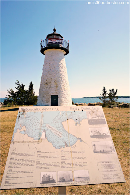 Faros de la Costa Sur de Massachusetts: Ned's Point Lighthouse