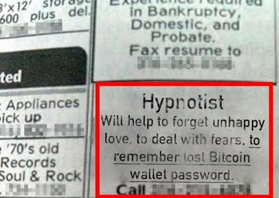 Recupera Bitcoins con hipnosis