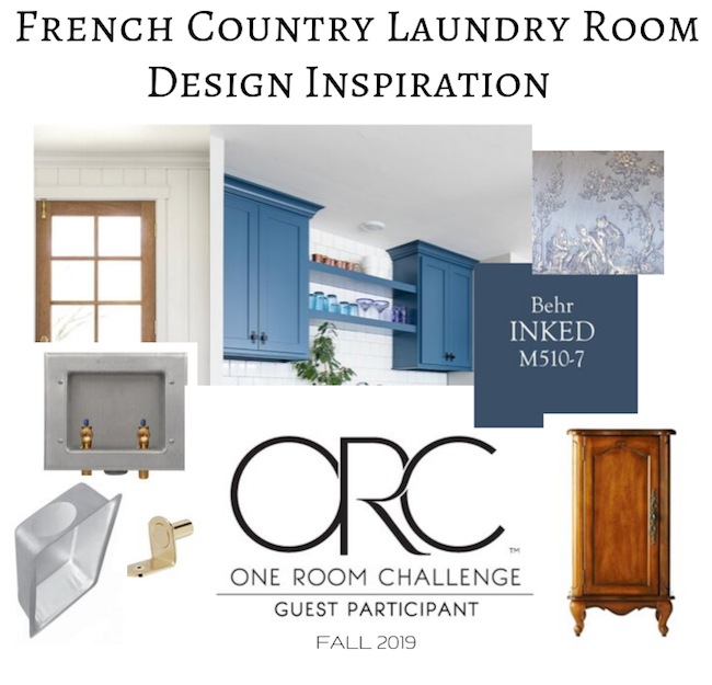 French Country laundry ORC™ Design Week 2 Inspiration Board