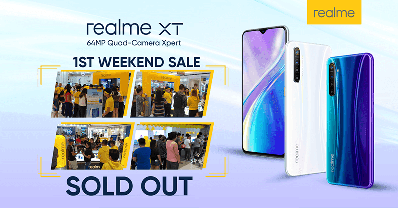 The realme XT sold out its first weekend in PH