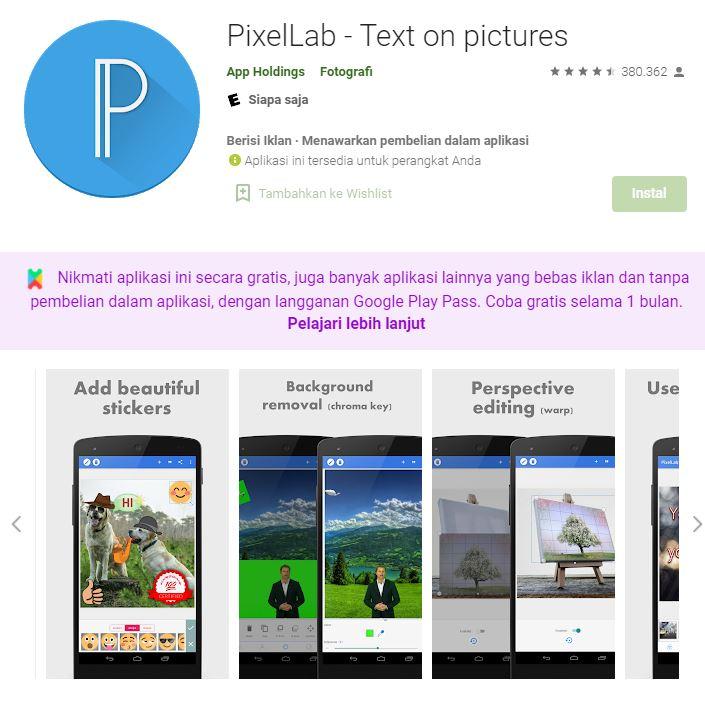 aplikasi desain di hape pixelab