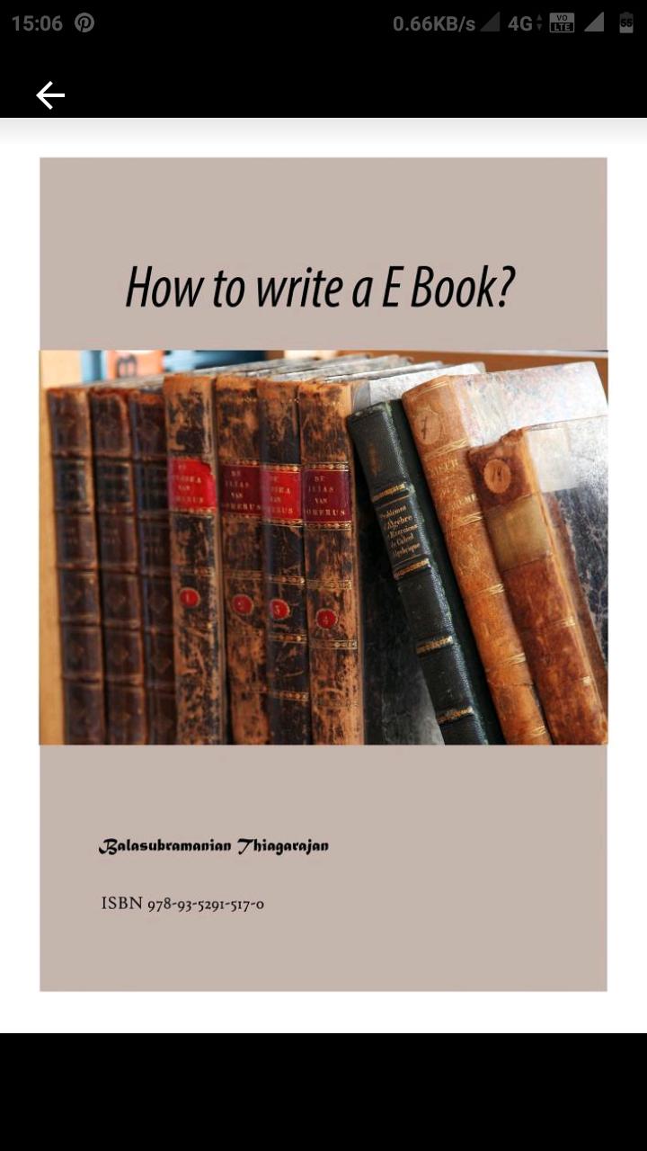 How to write a ebook