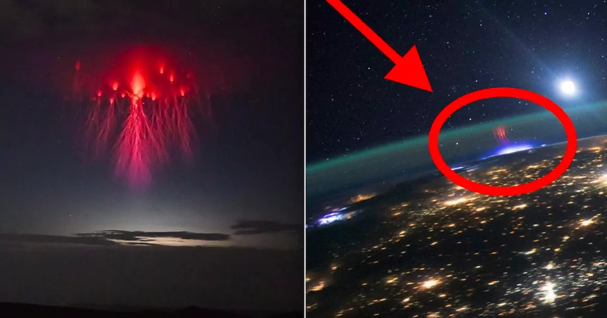 Spectacular Image Captures The Electric Tentacles Of Red Jellyfish Sprite Lightning In The Sky Above Texas