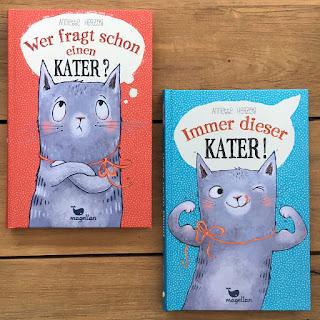 """""""Wer fragt schon einen Kater?"""" von Annette Herzog, illustriert von Pe Grigo, erschienen im Magellan Verlag"""