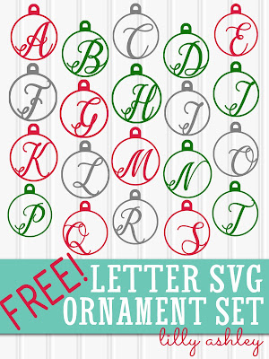 Download Free SVGs for Christmas Ornaments