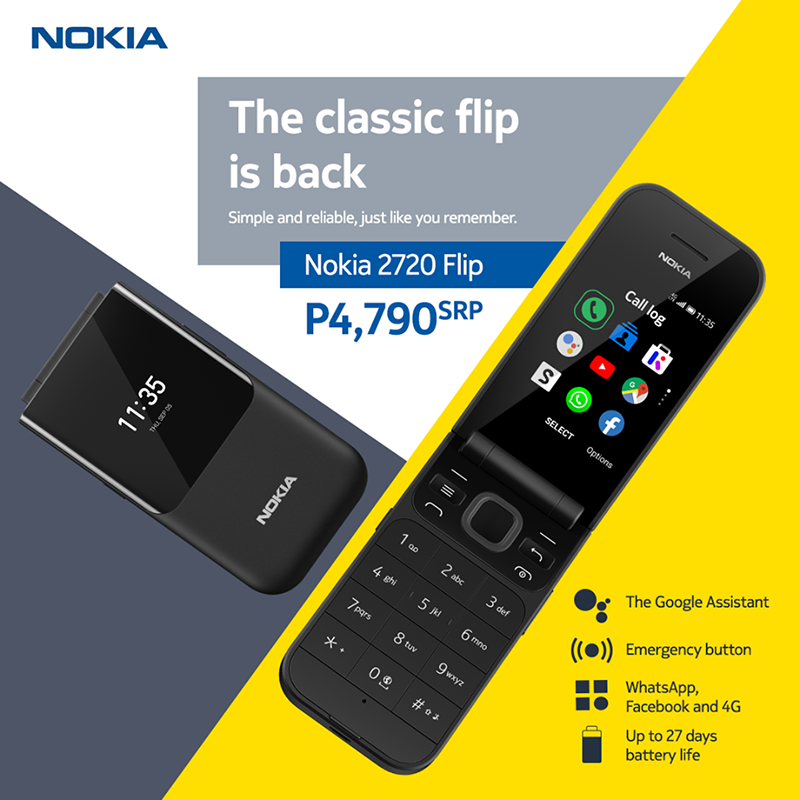 Nokia 2720 Flip with 4G LTE and Google Assistant key arrives in PH, priced at PHP 4,790!