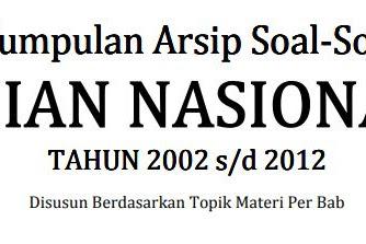 Download Soal UN MTK  IPA SMA Tahun 2002-2012