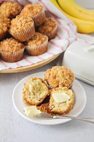 These buttery and tender banana streusel muffins are so delicious, and so easy to make!