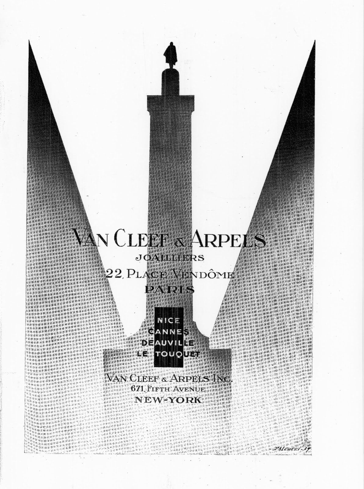 l 39 histoire des van cleef et des arpels de paris van cleef arpels publicit s de 1925. Black Bedroom Furniture Sets. Home Design Ideas