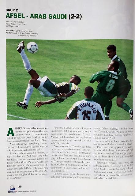 PIALA DUNIA 1998: GRUP C AFSEL VS ARAB SAUDI (2-2)