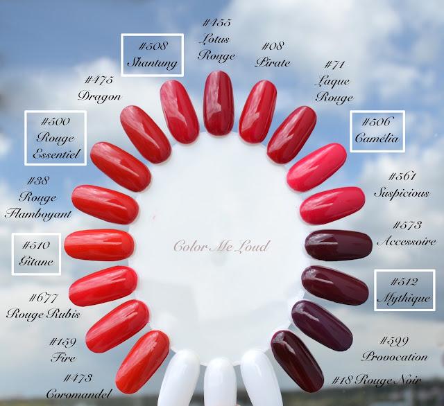 Chanel Le Vernis Long Wear Nail Colour Reds Review Swatch Amp Comparison Color Me Loud