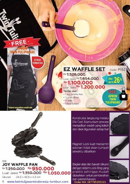 Promo Diskon November 2017, EZ Waffle Set, Joy Waffle Pan